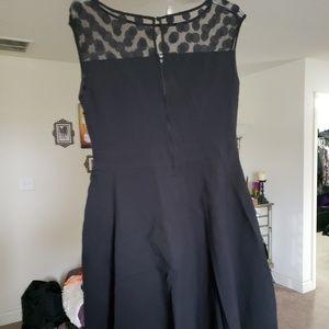 Torrid black and polka dot skater dress